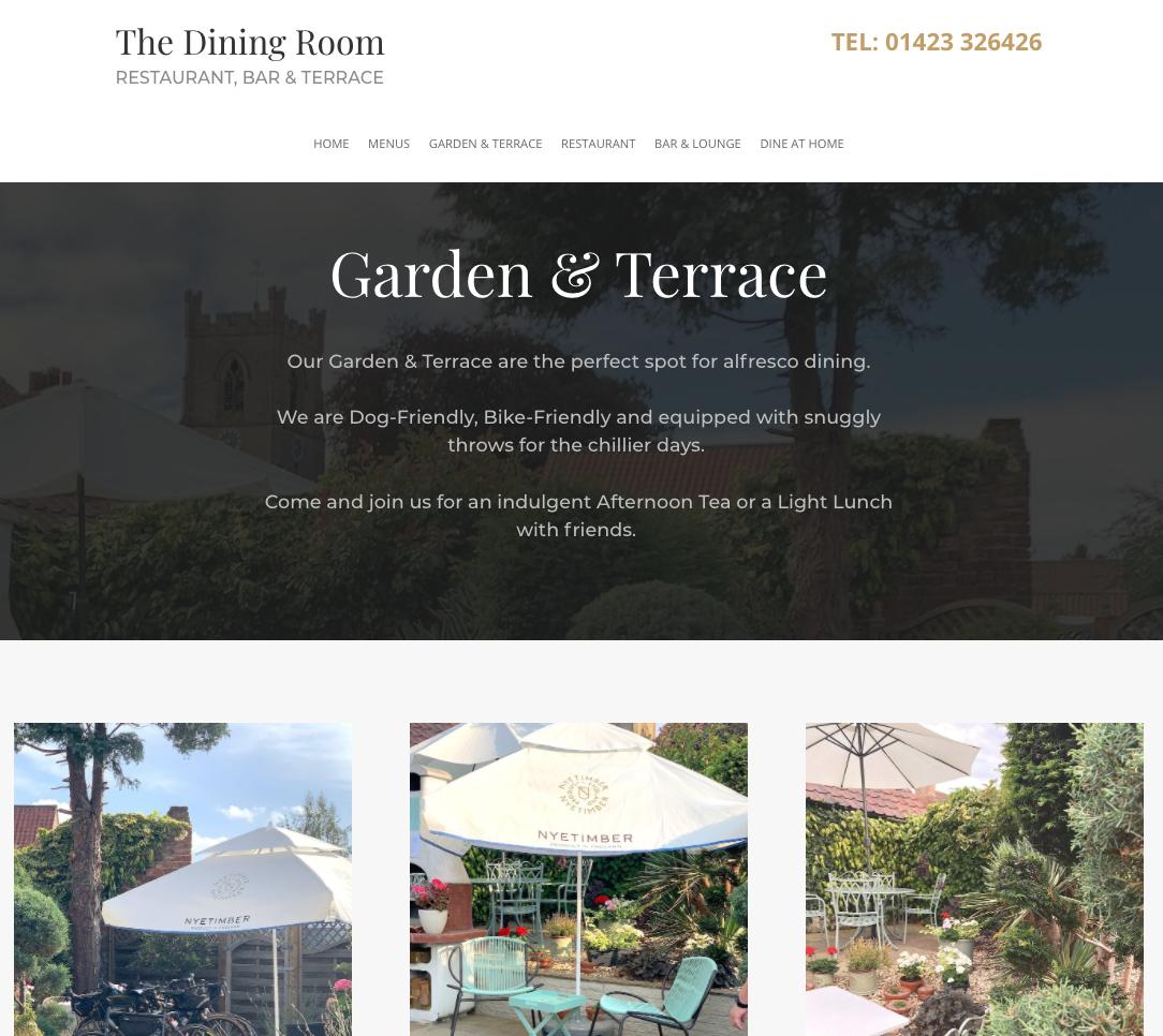 the dining room boroughbridge website design 2020