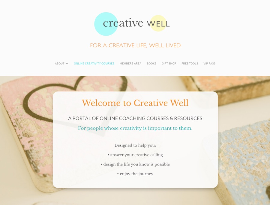 creative well online courses for creative women