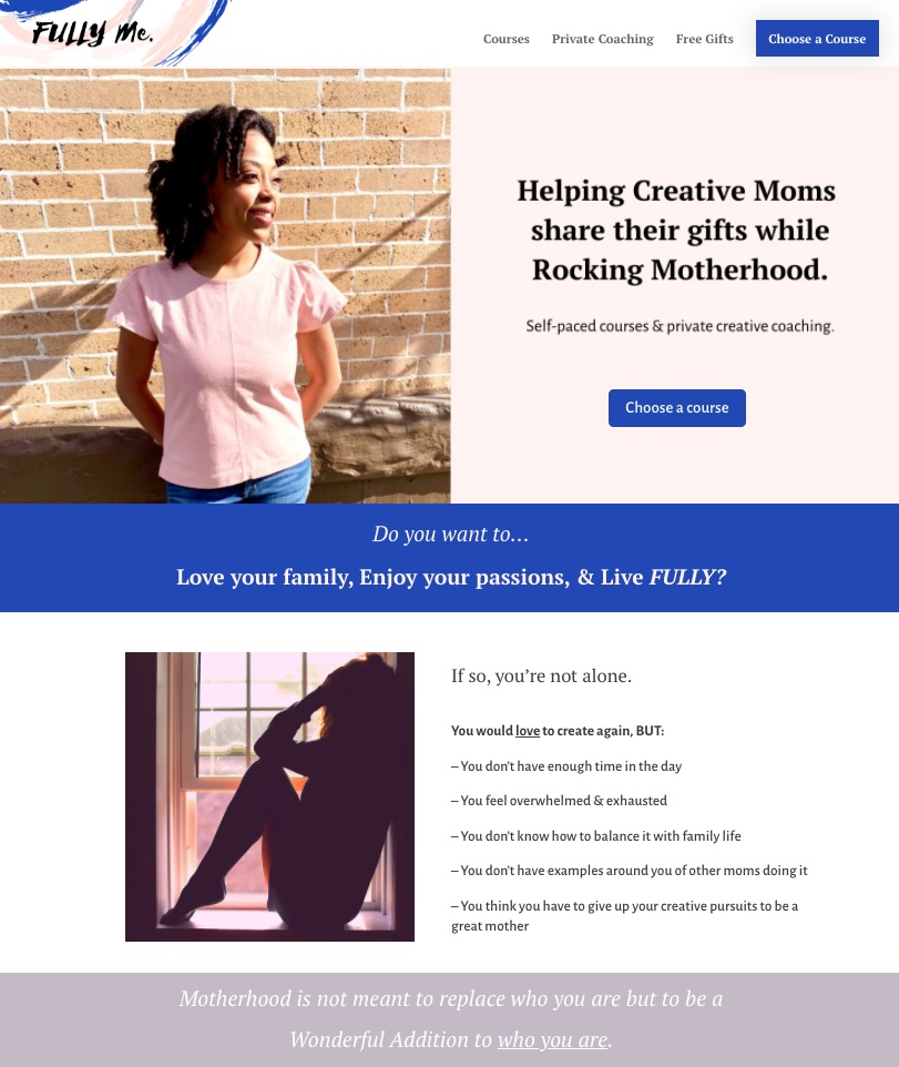 fully me jazelle morris coaching courses for creative mums